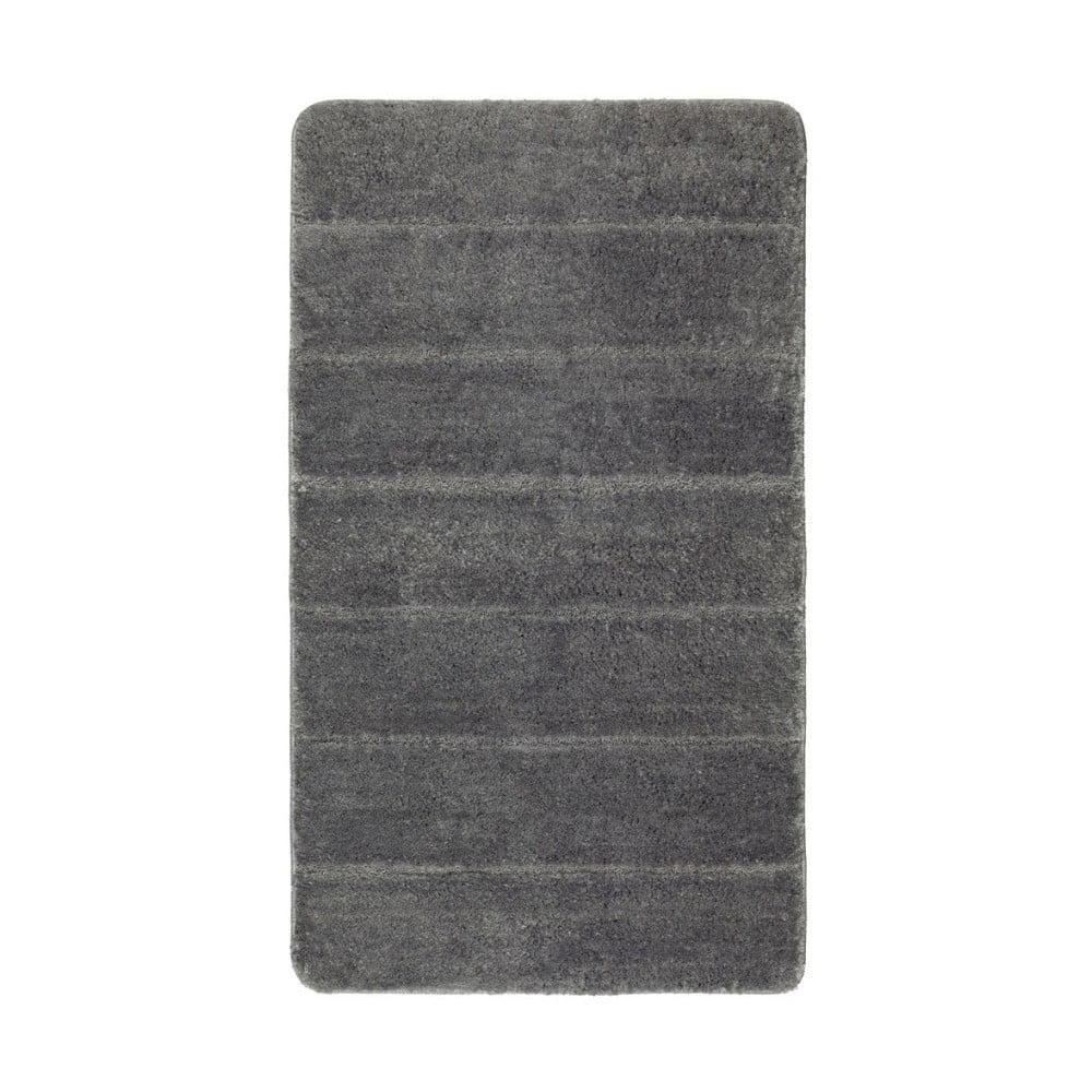 Tmavě šedá koupelnová předložka Wenko Steps, 120 x 70 cm