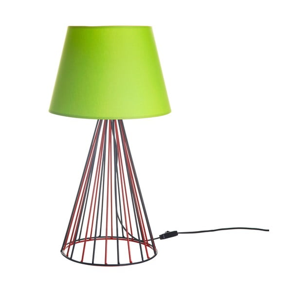Stolní lampa Wiry Lime/Red/Black