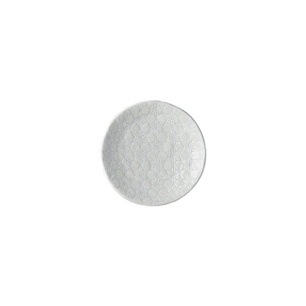 Bílý keramický talíř MIJ Star, ø13 cm