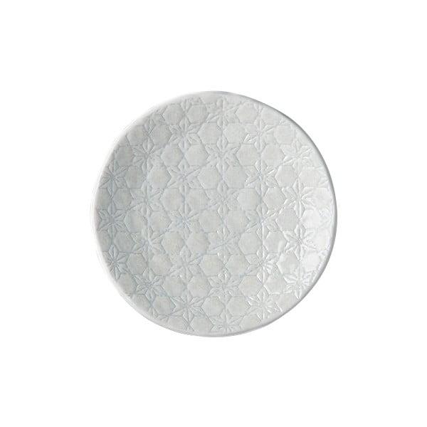 Biały talerz ceramiczny MIJ Star, ø 13 cm