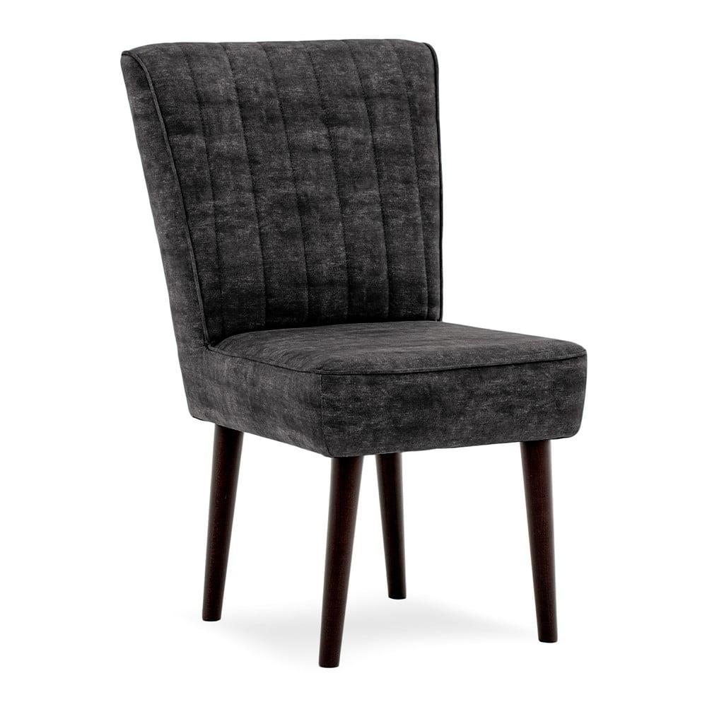 Tmavě šedá čalouněná židle Vivonita Leila