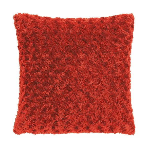 Červený polštář Tiseco Home Studio Curl, 45 x 45 cm