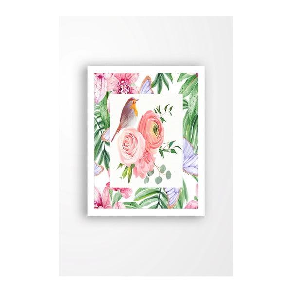 Tablou pe pânză în ramă albă Tablo Center Garden Friends, 29 x 24 cm