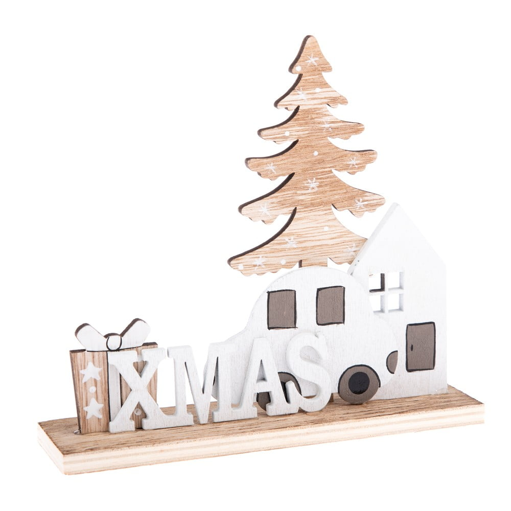 Vánoční dřevěná dekorace s nápisem Dakls Xmas