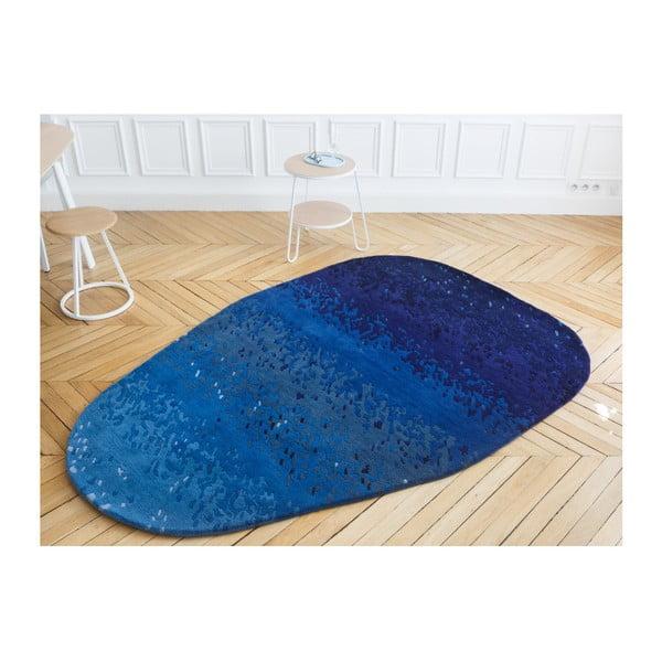 Covor din lână HARTÔ Aube, 150 x 229 cm, albastru