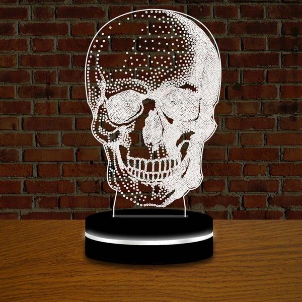 Světlo s 3D efektem Modern Skull