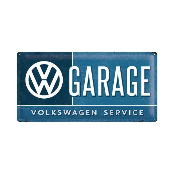 Plechová cedule VW Garage, 25x50 cm