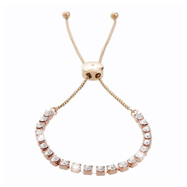Náramek v růžovozlaté barvě s krystaly Swarovski® Yasmine Ingred