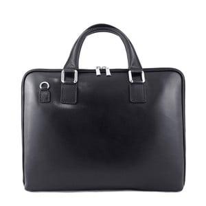 Černá pánská kožená taška Luciano Calboni Alfeo
