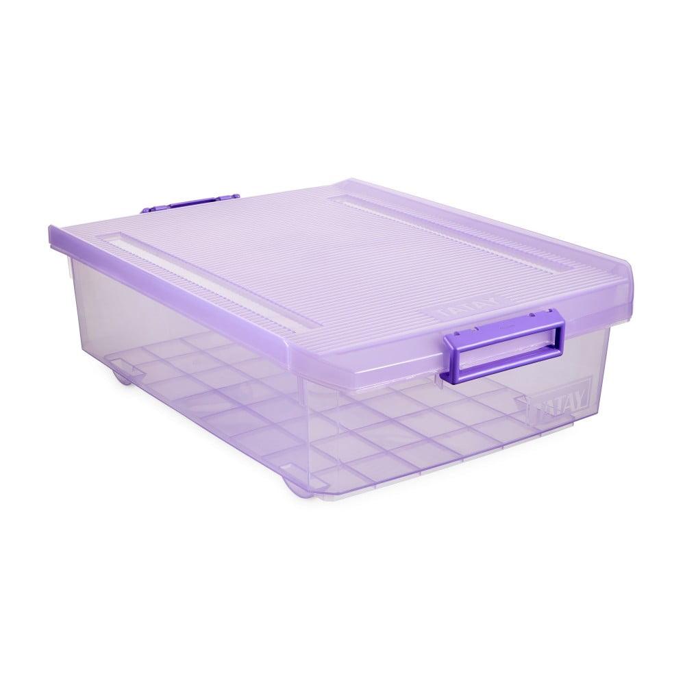 Fialový úložný box pod postel Ta-Tay Storage Box, 32 l
