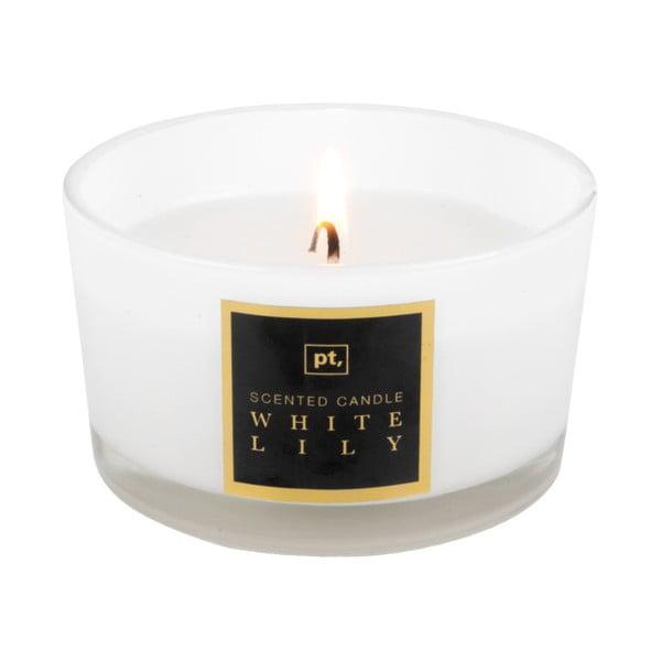 Świeczka o zapachu białej lilii PT LIVING Scented Candle, 27 h