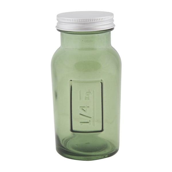 Zelená dóza z recyklovaného skla Mauro Ferretti Coperchio, ⌀ 6,5 cm