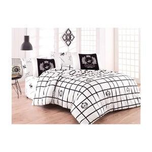 Lenjerie de pat cu cearșaf BHPC Rebecca, 200 x 220 cm
