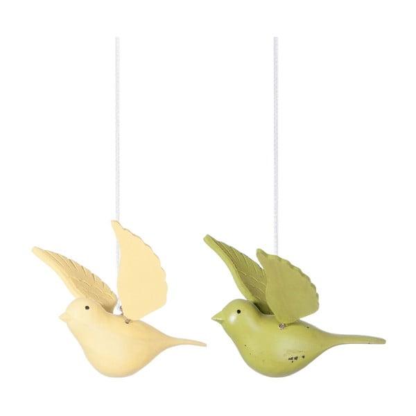 Sada 2 závěsných dekorací Bird Hang
