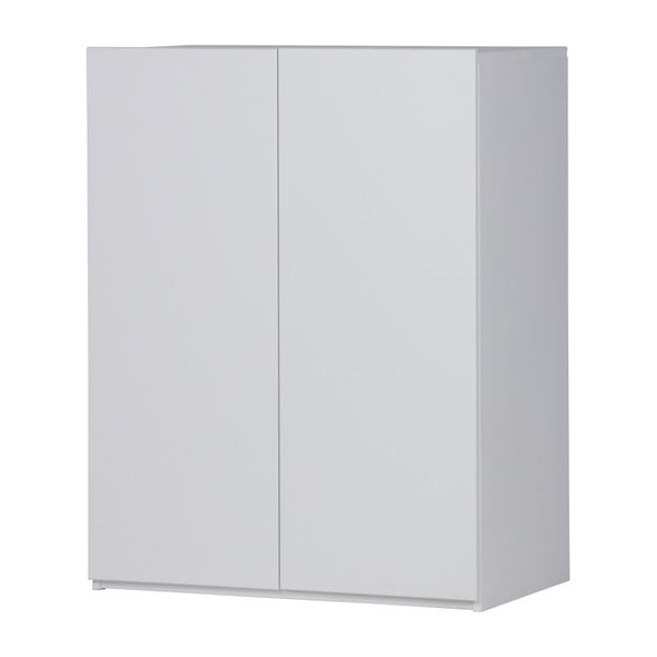 Bílá skříňka z borovicového dřeva WOOOD Bind