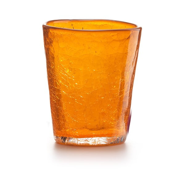 Set 6 ks sklenic Fade Ice, oranžový