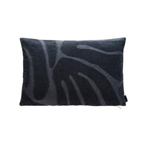 Tmavě šedý bavlněný polštář s vysokým podílem viskózy OYOY Roa