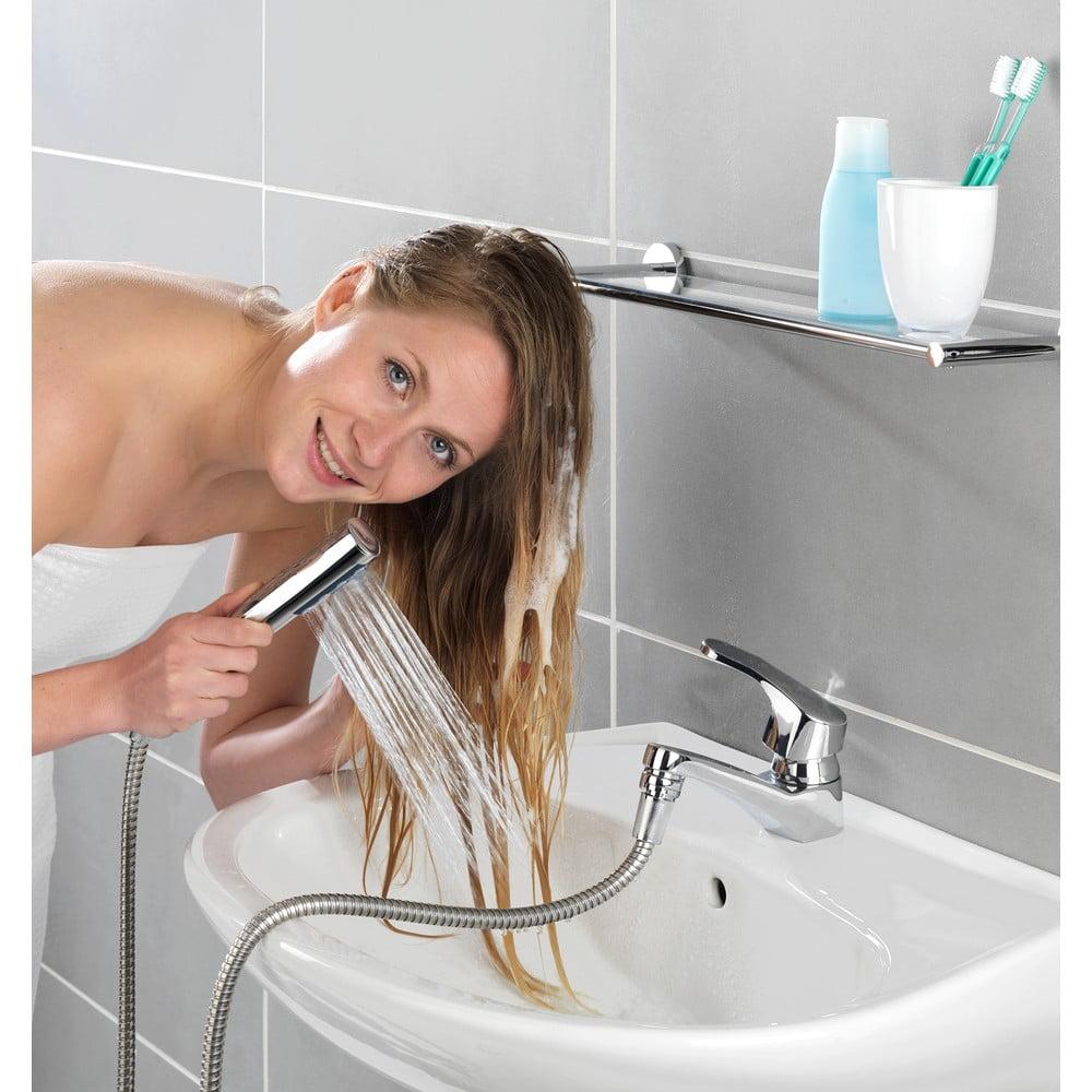 Produktové foto Sprchová hadice k umyvadlu s dvojitým nástěnným držákem Wenko