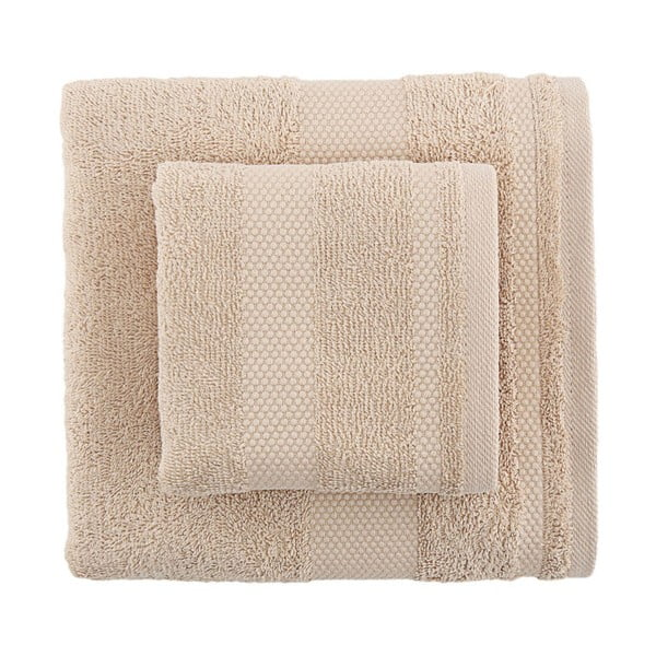 Sada 2 béžových ručníků Clio