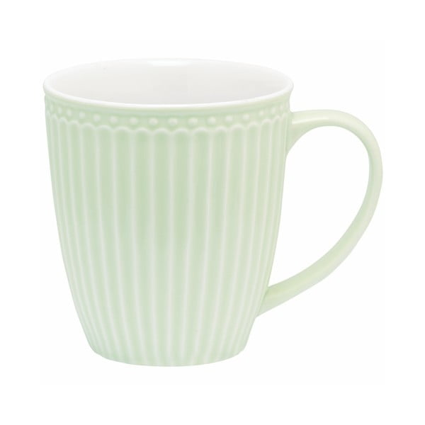 Cană din ceramică Green Gate Alice, 300 ml, verde