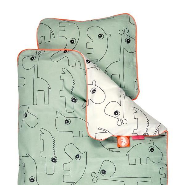 Lenjerie de pat Contour Green, 70x100cm