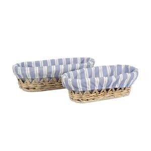 Sada 2ks košíků Bread Willow, 30x14x9 cm