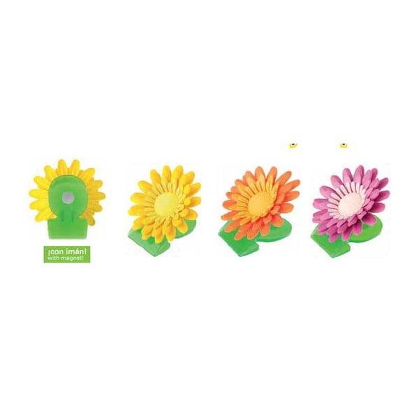 Magnetické klipy Flower Power, 3 ks