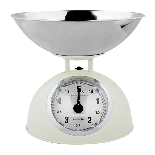 Kuchyňská váha, krémová