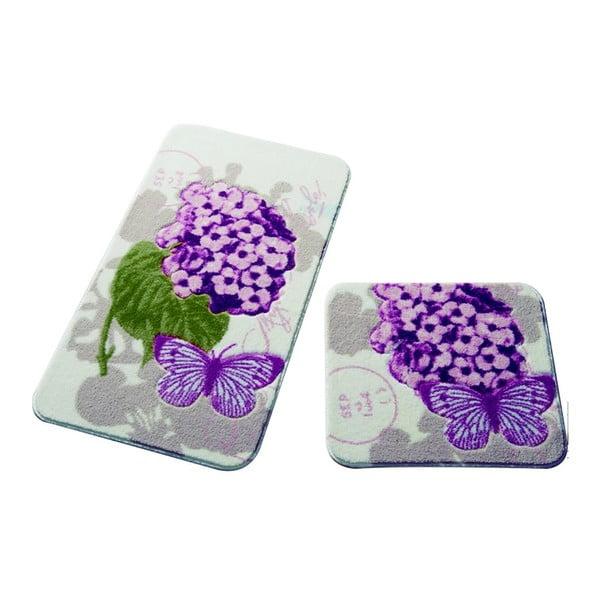 Sada 2 koupelnových předložek Confetti Bathmats Pia Pink