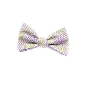 Oboustranný motýlek Classic, fialovozelený
