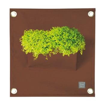 Ghiveci pentru flori The Green Pockets Amma, 45 x 50 cm, maro