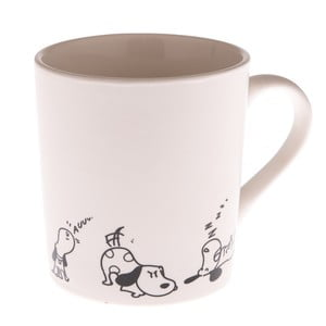 Bílý porcelánový hrnek s pejsky Dakls Dogs, 280ml