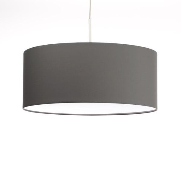 Tmavě šedé stropní světlo Artist, variabilní délka, Ø 60 cm