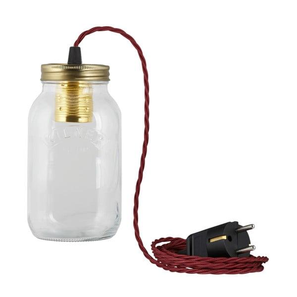 Svítidlo JamJar Lights, vínový kroucený kabel