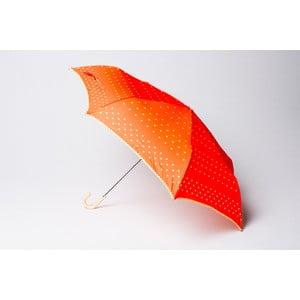 Skládací deštník Dots, oranžový