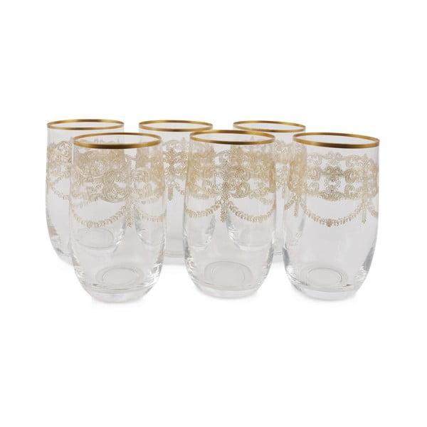Sada 6 skleněných skleniček Zaharias