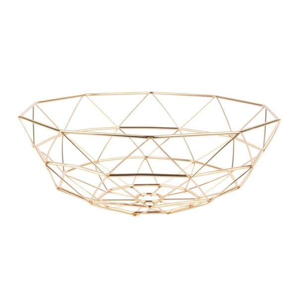 Fuctieră PT LIVING Diamond, ⌀ 35 cm, auriu