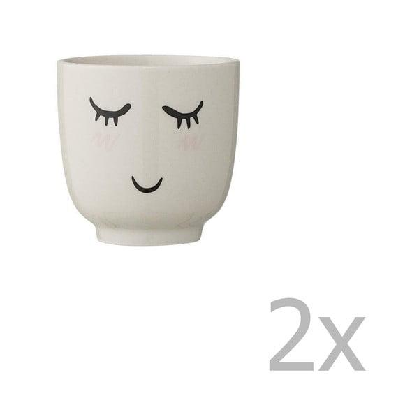 Cană din ceramică Bloomingville Smilla, alb