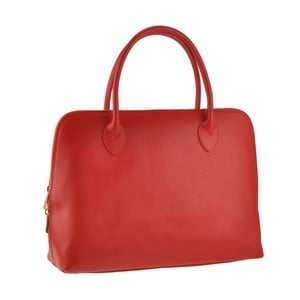 Červená kožená kabelka Ore Diece Manfredi