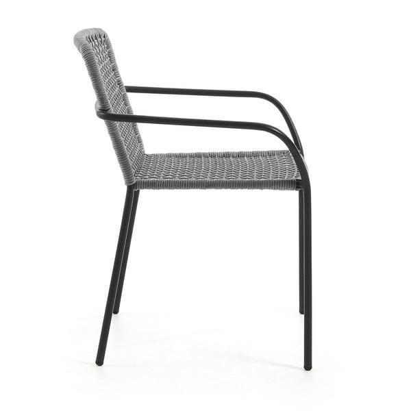 Sada 4 šedých zahradních židlí La Forma Boomer