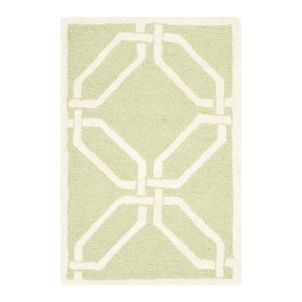 Ručně vyšívaný koberec Safavieh Mollie Pistacio, 152 x 91 cm
