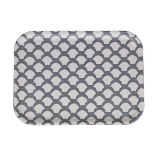 Podnos Iris Saras Roof Grey, 27x20 cm
