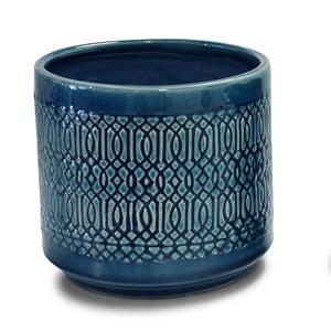 Modrý svícen Interiörhuset Pot Stina, výška 14cm