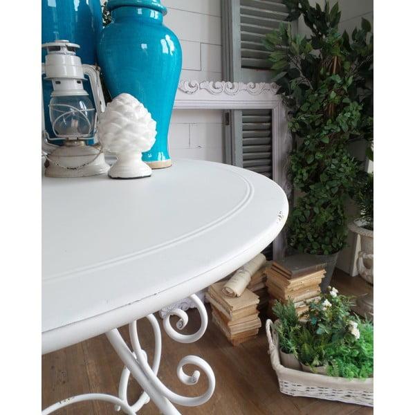 Kovový stolek Old White