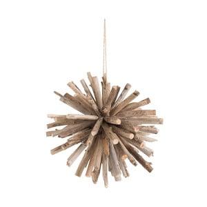 Závěsná dřevěná dekorace J-Line Ball, ⌀35cm