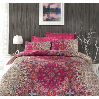 Lenjerie de pat cu cearșaf Tugba , 200x220cm de la Cotton Box