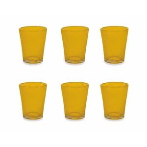 Sada 6 žlutých skleniček Villa d´Este Satin