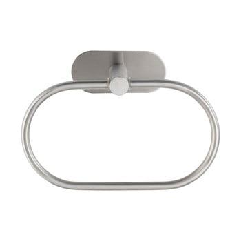 Suport de perete pentru prosoape din oțel inoxidabil mat Wenko Orea Ring Turbo-Loc®
