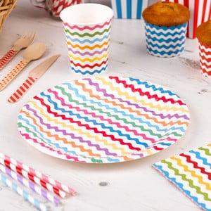 Sada 8 papírových talířů Neviti Carnival Waves
