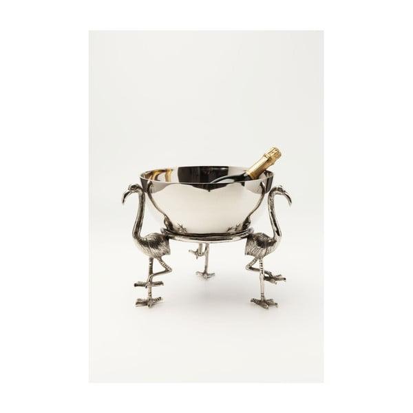 Dekorativní mísa ve stříbrné barvě Kare Design Bowl Flamingo